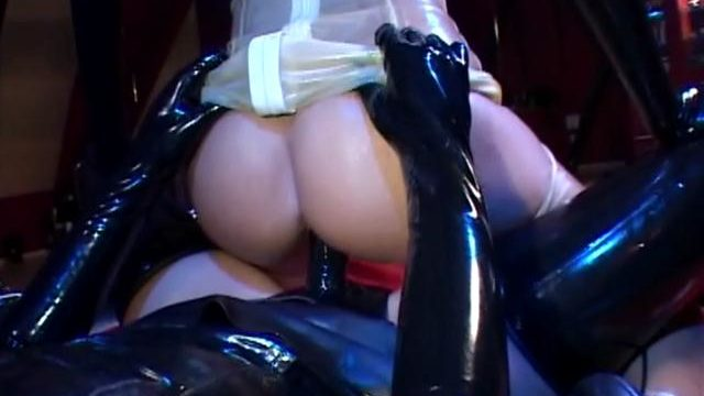 Extraordinaire Lesbos In Spandex Sharing A Enormous Dark-hued Belt Dick Fuck Stick