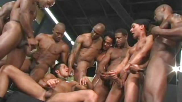 Homosexual Bi-racial Mass Ejaculation
