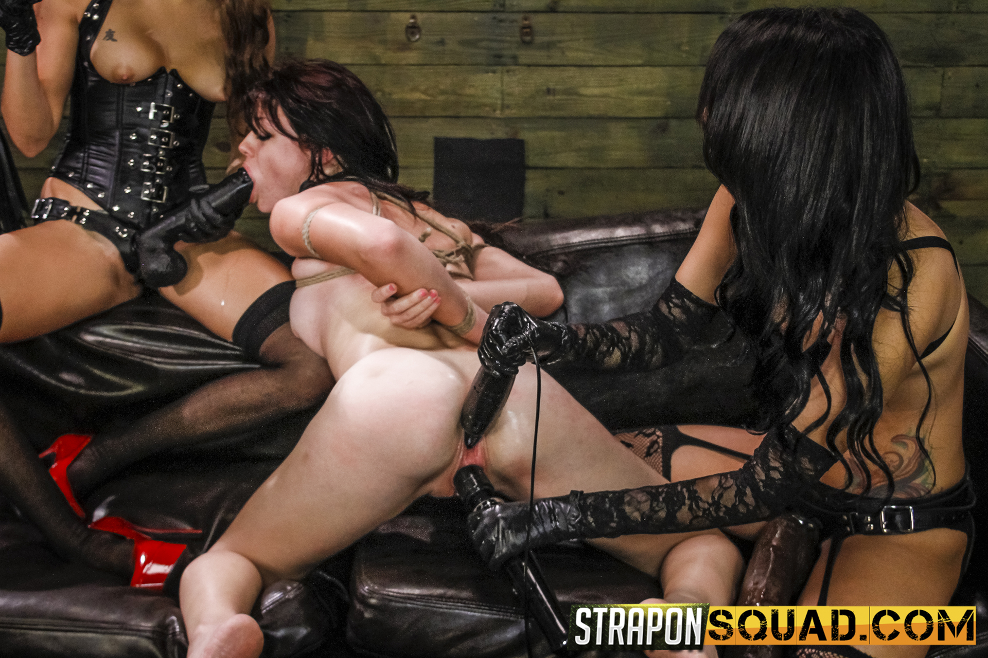 All Girl Supremacy & Sybian Saddle Three Way With Kaisey Dean, Marina Angel, Esmi Lee